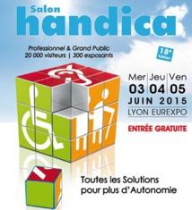Salon Handica à Lyon Eurexpo les 3, 4 et 5 juin 2015