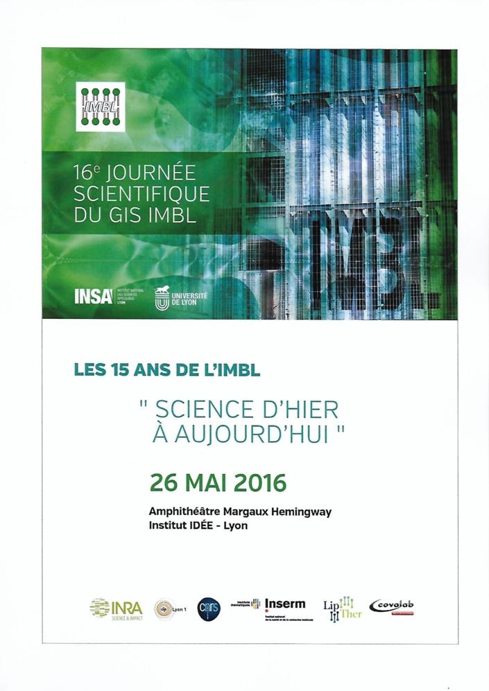 16ème journée scientifique du GIS IMBL