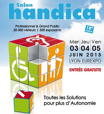 Salon handica lyon eurexpo les 3 4 et 5 juin 2015 for Salon eurexpo lyon