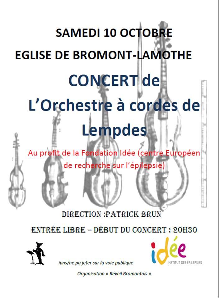 Concert le samedi 10 octobre 2015 à Bromont Lamothe (63)