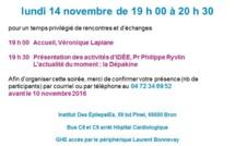 14 nov. 2016 à Lyon avec le Pr Ph. Ryvlin